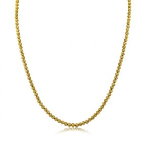 10K Yellow Gold 4mm Diamond Cut Disco Moon Chain Necklace (Available from 16 - 28 inches)