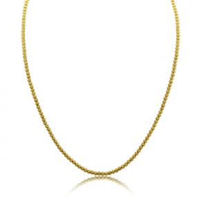 10K Yellow Gold 3mm Diamond Cut Disco Moon Chain Necklace (Available from 16 - 28 inches)