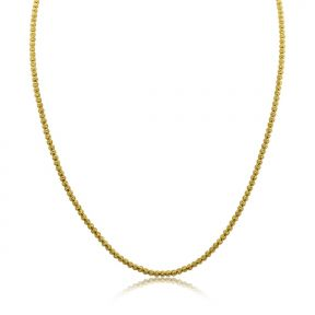 """10K Yellow Gold 2.5mm Diamond Cut Disco Moon Chain Necklace (Available 18"""" to 30"""")"""