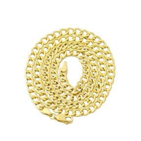 10K Yellow Gold 4.5mm Hollow Curb Cuban Chain Necklace (Available from 18 - 26 inches)