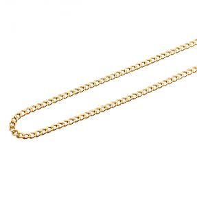 10K Yellow Gold 3.5mm Hollow Curb Cuban Chain Necklace (Available from 18 - 24 inches)
