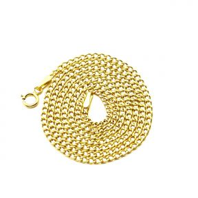10K Yellow Gold 2mm Hollow Curb Cuban Chain Necklace (16 - 24 inches)
