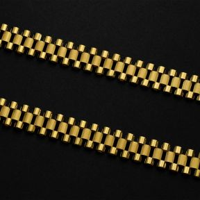 """10k Yellow Gold 14mm RX Chain Necklace with Lobster Lock (18"""" - 30"""")"""