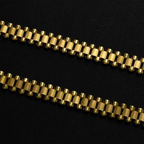 10k Yellow Gold 12mm RX Chain Necklace with Lobster Lock (Available in Lengths 18-30)