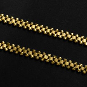 "10k Yellow Gold 10mm RX Chain Necklace with Lobster Lock (Available 18"" - 30"")"