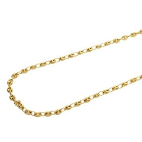 10K Yellow Gold 6mm Hollow Puff Mariner Chain Necklace (Available from 18 - 26 inches)