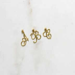 10k Medium Script Initial Charm Pendant (Available from A- Z)