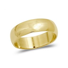 LoveBling 10K Yellow Gold Classic Fit Lightweight Solid Wedding Band Ring (2mm to 6mm)