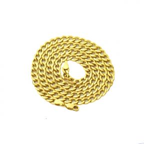 """14k Yellow Gold 4.5mm Hollow Curb Cuban Chain Necklace With Lobster Lock (Available in Lengths 18"""" - 26"""")"""