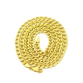 """14k Yellow Gold 2.5mm Hollow Curb Cuban Chain Necklace With Spring Lock (Available in Lengths 16"""" - 24"""")"""