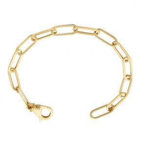 14k Yellow Gold 5mm Paper Clip Link Bracelet