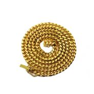 """10K Yellow Gold 4mm Solid Miami Cuban Link Chain Necklace w/ Lobster Lock (16"""" - 30"""")"""
