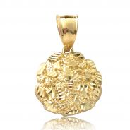 10 Karat Yellow Gold small nugget pendant with bail for necklace