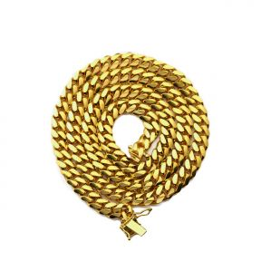 14K Yellow Gold 6mm Solid Miami Cuban Necklace with Secure Box Lock ( Available in 16
